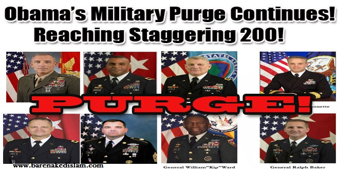 Why is Obama Purging the Military: 200+ Officers in 5 Years: Did Obama Fire Military Officers Because He 'Fears a Coup'…