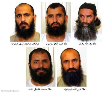 five-5-taliban-commanders-released-by-obama-muslim-terrorists-islam-gitmo-swap
