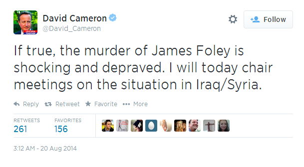 UK Prime Minister's Response to ISIS Beheading of US Journalist Puts Obama's Lack of a 'Reaction' to Shame!