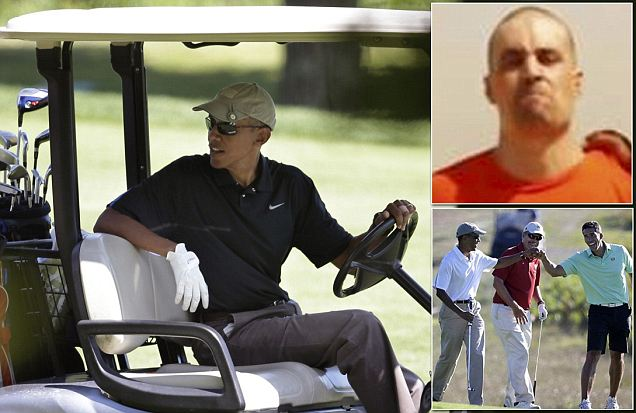 OBAMA PLAYING GOLF AGAIN! Obama Tees Off 24 Hours After Being Criticized For Hitting The Course Minutes After Pledging Justice For Beheaded American Journalist James Foley