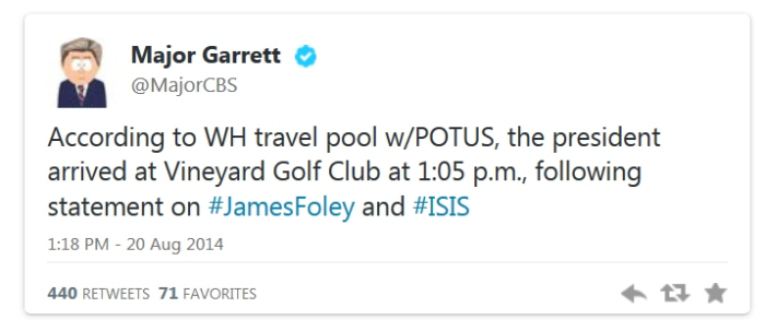 Immediately After Giving Speech Condemning ISIS For Beheading American, Obama Plays Golf!