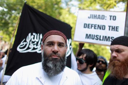 Protestors Attend Pro Osama Bin Laden Demonstration Outside US Embassy