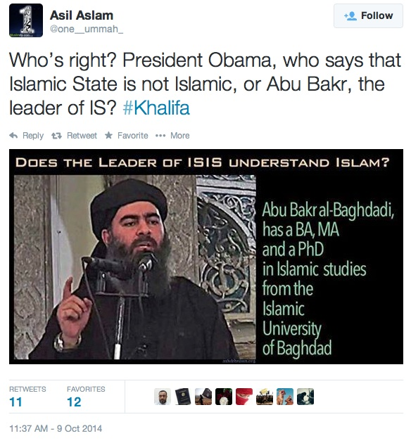 WATCH OBAMA LIE: Obama Caught by Twitter Using Stealth Muslim Brotherhood Tactic while Describing ISIS as 'Not Islamic'