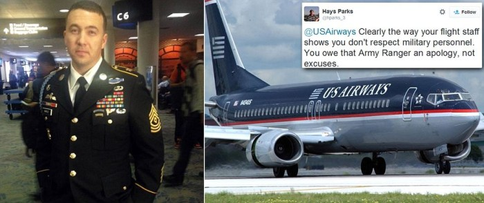 VIDEO: Outrage As U.S. Airways Attendant Refused To Let Veteran Hang His Medal-Filled Military Jacket