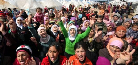 Syrian-refugees-protest