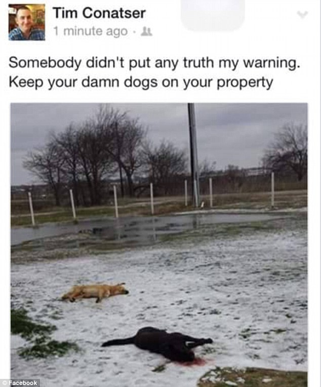 [Warning Graphic Photo] Fury Over Firefighter Who Kills Neighbors' Dogs and Posts Photo on Facebook With Warning 'Keep Your Dogs Out of My Yard'
