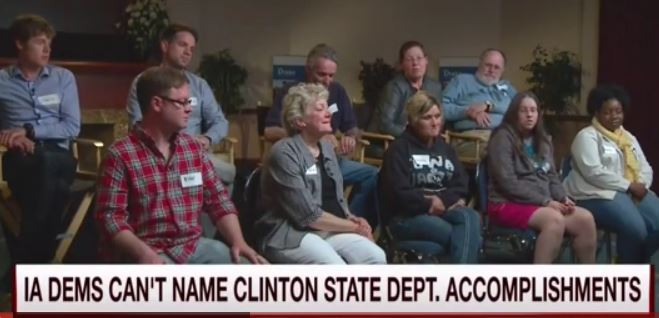 Iowa Dems. Can't Name An Accomplishment By Hillary Clinton As Sec. Of State [Video]