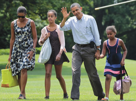 obama-vacation-with-family