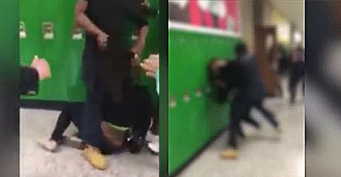 [Watch] Brutal School Fight Caught On Video And Teachers Stand By And Watch
