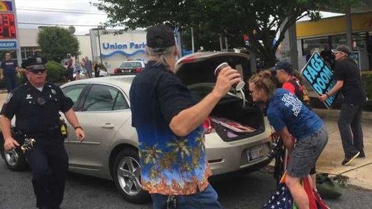 Marine Defends Flag at Beau Biden's Funeral – Get's Arrested [Video]