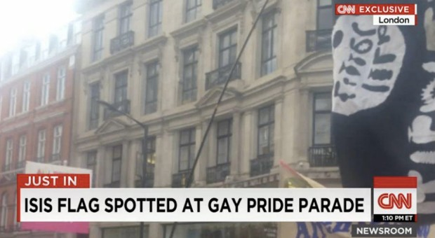 CNN Reports ISIS Flag At Gay Pride Parade – The Only Problem, It Was A Dildo Covered Flag [Video]