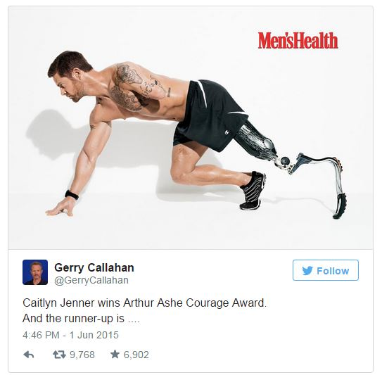 OUTRAGEOUS: Bruce-Caitlyn Jenner Beats Out Double Amputee Veteran Noah Galloway For ESPN ESPY Award