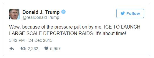 Donald Trump Responds To Feds Deportation Plan: 'IT'S ABOUT TIME!'