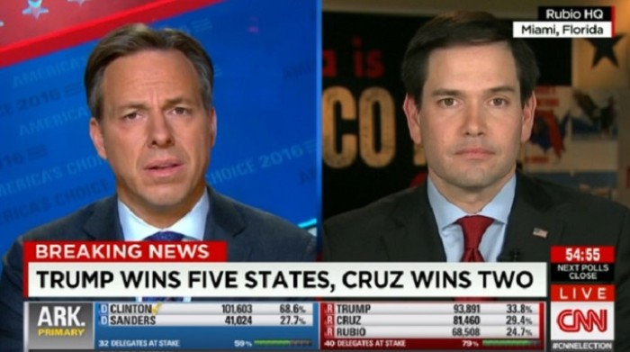 Marco Rubio In Denial – Rejoices Super Tuesday: 'We Fought Trump To The Draw – Our Numbers Are Going Up' (Video)
