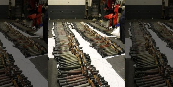 Navy Seizes Thousands Of Iranian Weapons Hidden On Ship