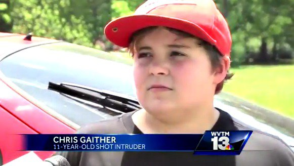"11 Year Old Shoots Intruder – Suspect ""Started Crying Like a Little Baby"" (Video)"
