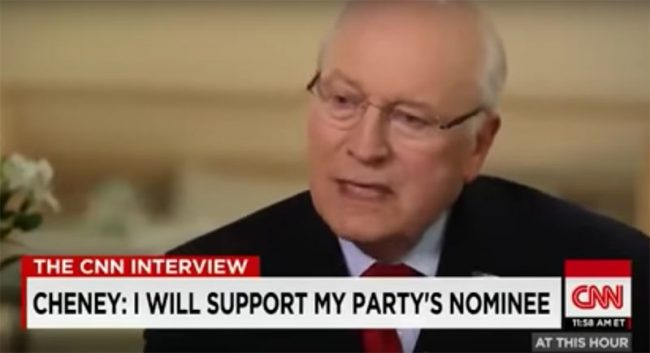 Dick Cheney Announces He Will Support Donald Trump As Nominee (Video)