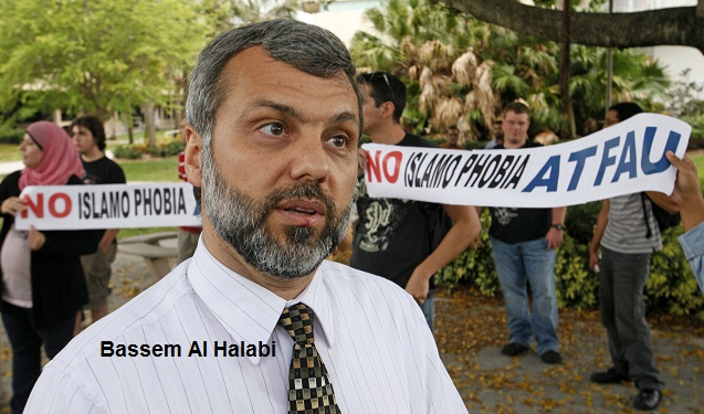 04/14/11 (Lannis Waters/The Palm Beach Post) BOCA RATON -- Florida Atlantic University Professor Bassem Al-Halabi, whom protesters claim has ties to terrorism, denies being a terrorist or believing in terrorism.