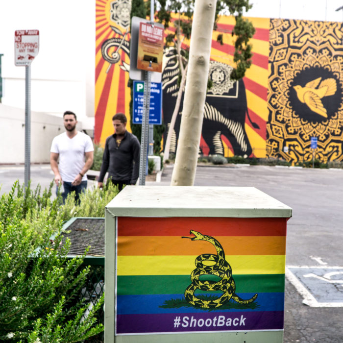 West Hollywood Inundated With Pro-Gun, Pro-Gay Posters