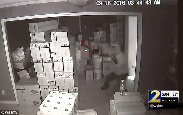 Incredible Footage Of Armed Woman Shooting Three Armed Burglars (Video)