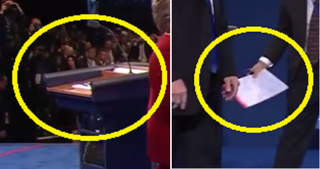 closeup-of-thing-removed-by-man-from-hillarys-debate-podium