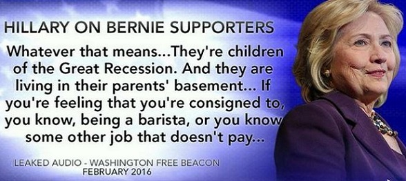 Leaked Clinton Audio: Sanders' Supporters 'Living in Parents' Basement'