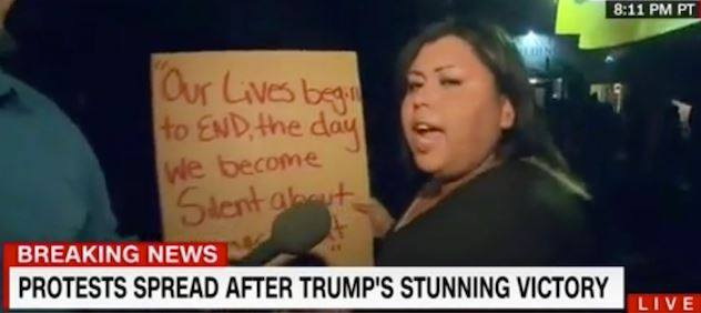 'People Have To Die': Anti-Trump Protester Calls For Violence On CNN (Video)