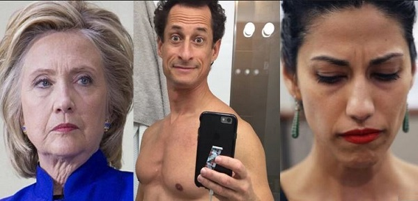 FBI Finds Hillary Clinton State Dept Emails On Anthony Weiner's Laptop