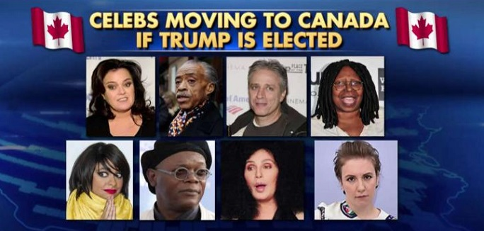 Good Riddance! These 23 Hollywood Liberals Said They'd Leave If Trump Won – Let's Hold Them To It
