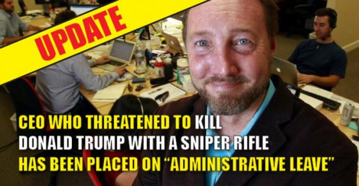 CEO Who Threatened To ASSASSINATE TRUMP With Sniper Rifle At White House Put On Administrative Leave