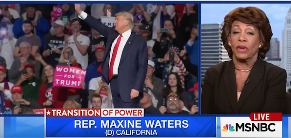 Dem Rep Waters: 'I Don't Trust Him,' 'I Don't Believe Him,' I Will Not Work With Trump (Video)