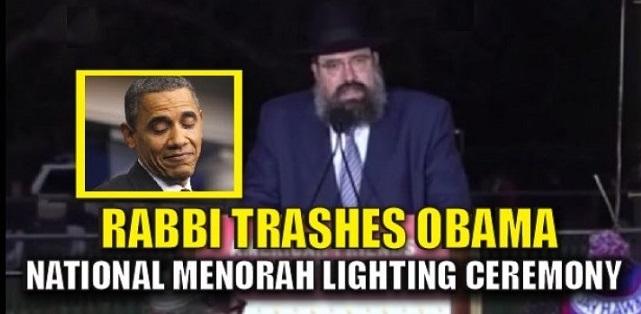 Rabbi Uses National Hanukkah Menorah Lighting To TRASH Obama UN Move (Video)