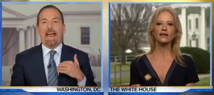 Liberal Hack Chuck Todd Attacks Trump – Kellyanne Conway Rips Him A New One (Video)