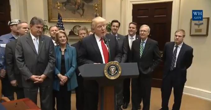 Trump Signs Repeal Of Obama-Era Coal Mining 'Stream Protection Rule' (Video)