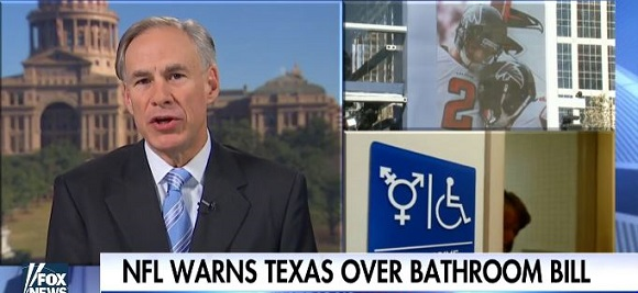 Texas Gov. Abbott Slams NFL For 'Bathroom Bill' Threat (Video)