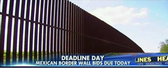 Bids To Build President Trump's Border Wall Due Today (Video)
