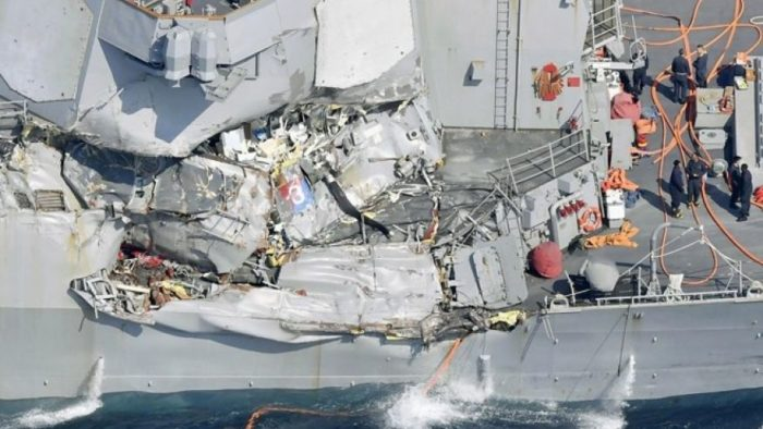 USS Fitzgerald: Massive Search Underway For 7 Missing Sailors After Collision (Video)