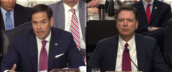 Rubio To Comey: Only Thing Not Leaked Is That Trump Was Not Under Investigation (Video)