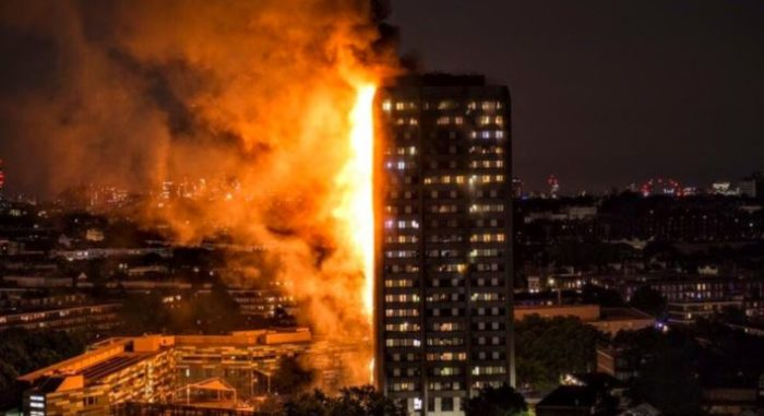 London's Towering Inferno: High-Rise Apartment Engulfed In Flames (Video)