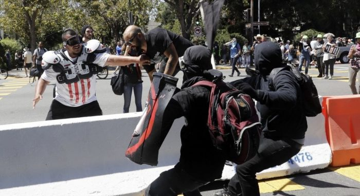 Berkeley Police Allowed Antifa to Jump Barricades, Assault Peaceful Right-Wing Demonstrators