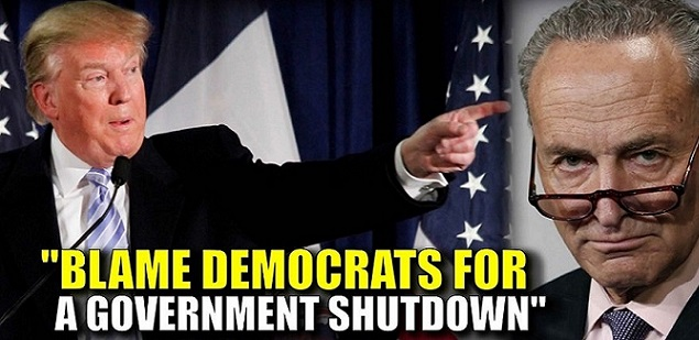 Democrats Threatening President Trump With Government Shutdown to Block Border Wall