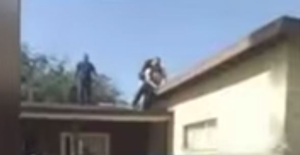 'That Sucker's Coming Down': 83-Year-Old Grandfather Pushes Burglar off His Roof (Video)