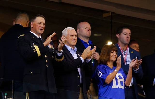 Vice President Mike Pence Takes a Stand Against NFL Players who Kneel During National Anthem