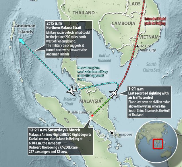 Missing Malaysian jet could be 'act of PIRACY