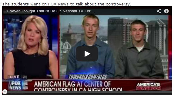 Absolute Insanity! A Federal Court In California Ruled That A High School Can Ban 'Incendiary' US Flag Shirts?