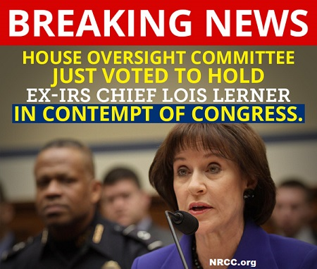 Appalling : House Won't Arrest Lois Lerner