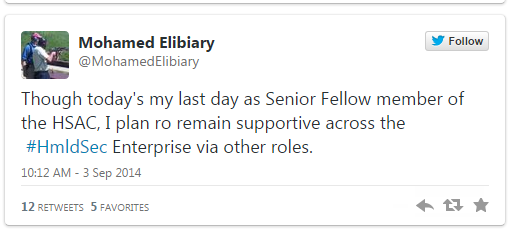 "Muslim Brotherhood Supporter, DHS ""Senior Fellow,"" And Hussein Obama Advisor Mohamed Elibiary Recently Resigned And is Headed to Texas!"