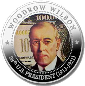 5-Dollars-28-27th-US-pres-Woodrow-Wilson-1913-1921-back