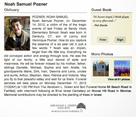 Noah+Pozner+obituary