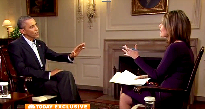 [Watch] NBC's Guthrie Makes Obama Mad Using Words Like 'Delusional' and 'Passive on Terrorism' and Makes Obama Squirm